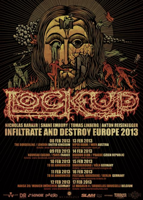 Lock Up - tour europeo