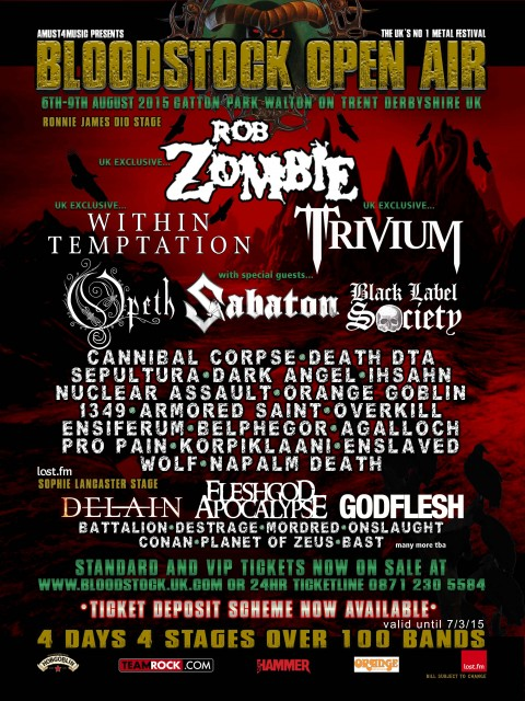 Bloodstock Open Air 2015-newconfirmations