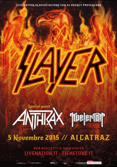 slayer anthrax milano 2015