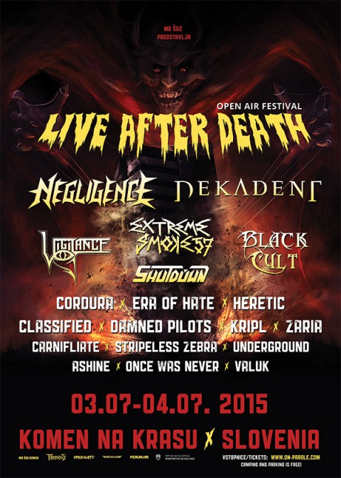 Live After Death Festival 2015 locandina