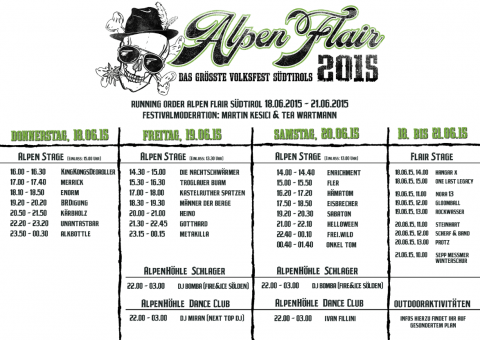 alpen flair running order