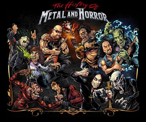 history of metal and horror