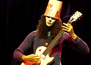 Buckethead performs on October 6, 2011 at the House of Blues in Houston, Texas