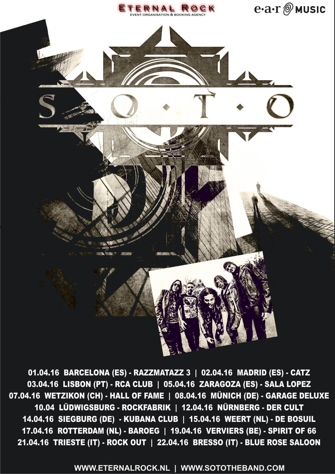 Jeff Scott Soto Tour 2016