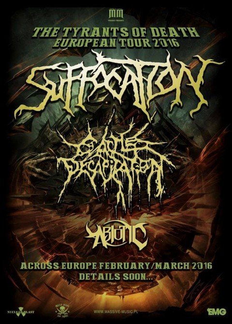 Suffocation - Europe Tour 2016