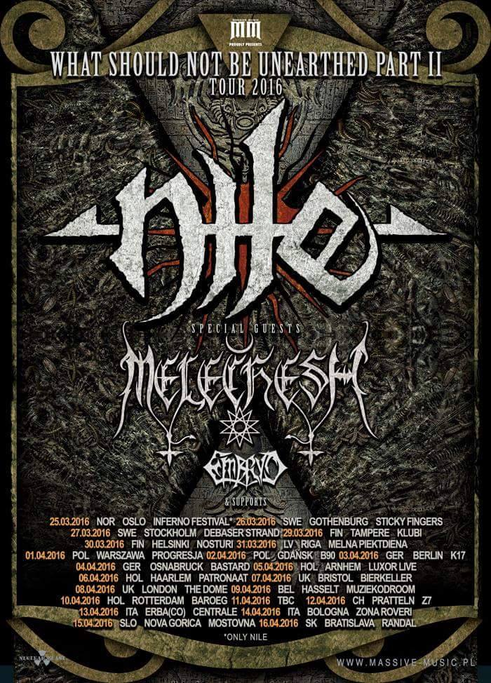 Nile European Tour 2016