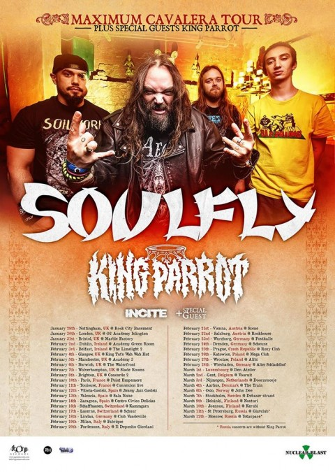 Soulfly - maximum cavalera european tour 2016