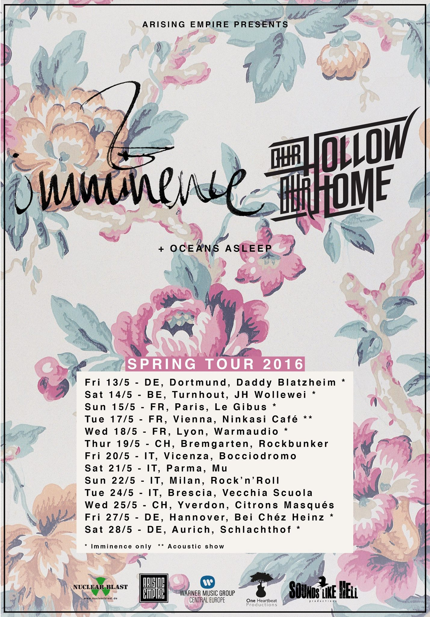 Imminence Tour Europa 2016