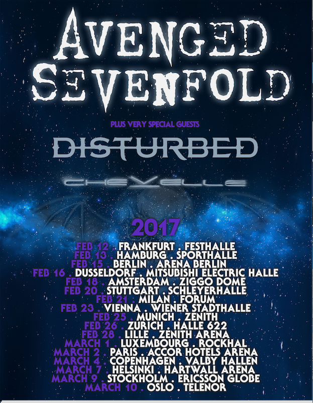 Avenged Sevenfold Europa 2017