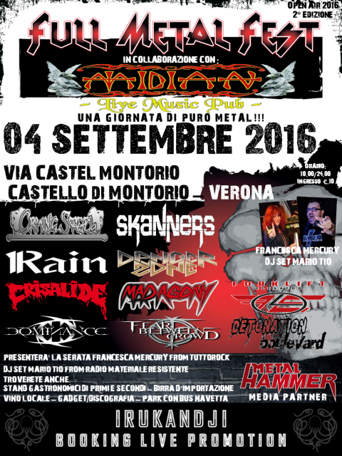 Locandina Full Metal Fest Open Air 2016