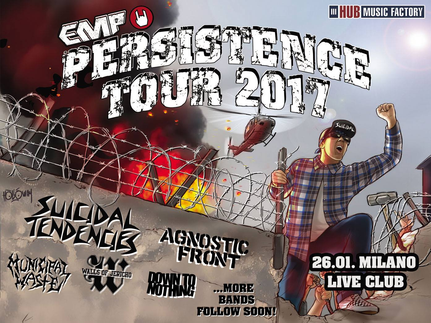 Persistence Tour 2017 Sucidal Tendencies Uptaded 9 Agosto